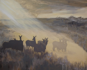 SUNRISE SAVANNA, acrylic, 2014 (65x81cm) SOLD