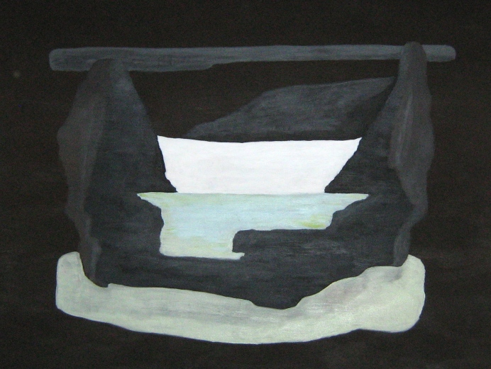 VALLEY, acrylic on wood board, 2011 (70x90cm) SOLD