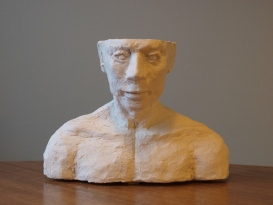 THOUGHTS, clay, 16,5cm, 2014