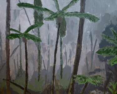 RAINFOREST, acrylic by palette knife, 2014 (41x34cm) SOLD
