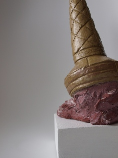 ICE CREAM, colored concrete, 27cm, 2015 SOLD