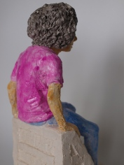 SKATER BOY, clay, 25cm, 2015 SOLD