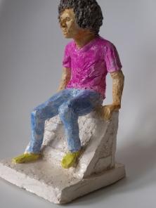 SKATER BOY, clay, 25cm, 2015 SOLD
