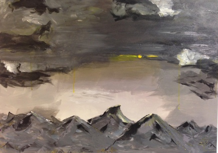 COURCHEVEL, acrylic, 2015 (65x90cm) SOLD