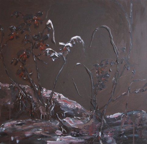 FROZEN GARDEN, acrylic, 2015 (60x60cm) SOLD