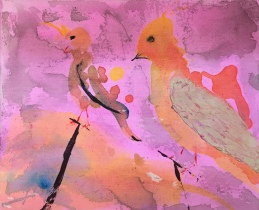 PINK FRIENDS, acrylic, 2015 (30x25cm) SOLD