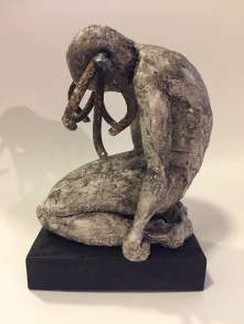 More SoMe Pls, clay and metal welding, 18cm, 2017