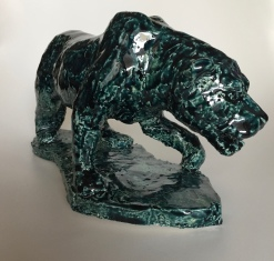BEAST, glazed clay, 32cm, 2016/18
