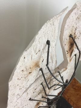 """2096"", glazed clay and metal craft, 75X50cm, 2019"