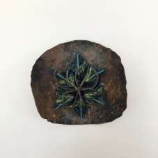 DROP, glazed clay and metal craft, 26X24cm, 2019