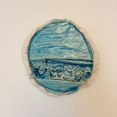 LANDSCAPE, glazed clay, 17cm, 2020